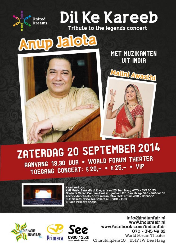 Anup Jalota in nederland op 20 september 2014
